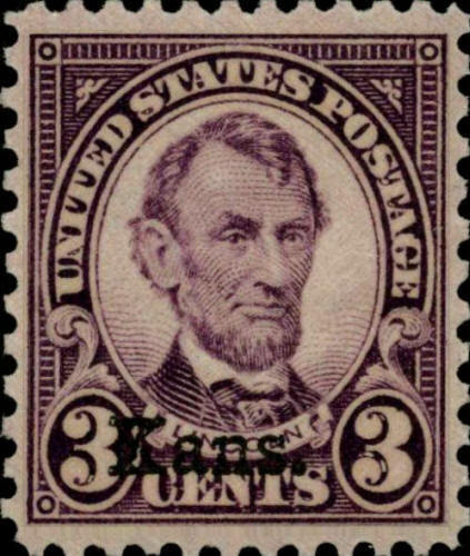 "1929 3c Abraham Lincoln ""Kansas Overprint"" Scott 661 Mint F/VF NH"