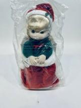 "1995 Precious Moments Doll Collection Christmas Doll Nikki Stocking 13"" - $17.33"