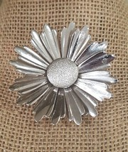 Vintage SARAH COVENTRY Silver Tone Flower Pin Brooch  - $6.50