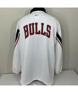 Vintage Nike Authentic Chicago Bulls Jacket Warm Up Jacket XL 98-99 Seas... - $143.99