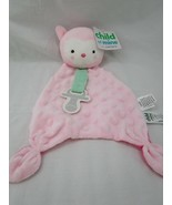 Carters Pink Owl Lovey Pacifier Holder Security Blanket Stuffed Animal Toy - $14.95
