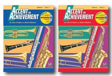 Primary image for Accent On Achievement with Interactive CD for Horn in F- Two Book Set - Includes