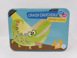Gibby & Libby Crazy Crocodile Shaped 25 Pc Puzzle in Tin - New - $11.99