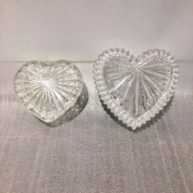 Crystal Candy Heart Covered Candy Dish Lot of 2 - $23.48