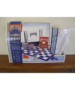 Bicycle Games 2 Go,40 Piece Set including checkers, Backgammon, Dice, et... - $18.98