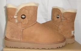 UGG Chestnut Mini Bailey Button Poppy Boots Women's Size US 5,EU 36 NIB 1092295 - $117.80