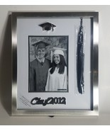 "GRADS CLASS OF 2012 PHOTO FRAME WITH TASSLE HOLDER 5"" X 7"" SILVER LINING... - $24.49"