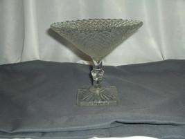 Vintage Westmoreland English Hobnail Compote Candy Pedestal Bowl Square ... - $64.35