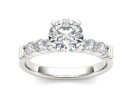 IGI Certified 14K White Gold 0.87 Ct Diamond Classic Solitaire Engagemen... - $919.99