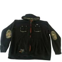 Coogi Hoodie Jacket Full Zip Tribal Black Embroidered Camo Interior Mens... - $197.99