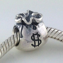 Authentic Pandora Sterling Silver Money Bag Bead Charm 790332 New - $31.34
