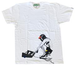 Triko Mens White Fast Racer Sexy Girl w Helmet Electronic Music Keyboard T-Shirt