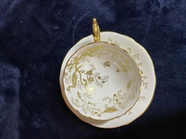 """Vintage Coalport Gold on White """"Cairo"""" Gold Trim footed Cup - $69.20"""