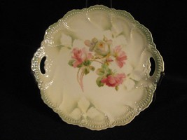 PRETTY LITTLE VINTAGE HANDLED CAKE PLATE - MAKER UNKNOWN - $24.14