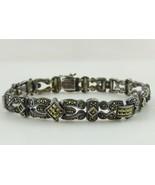 JUDITH JACK Sterling Silver 925 Marcasite Fancy Link BRACELET - 7 1/2 in... - $95.00