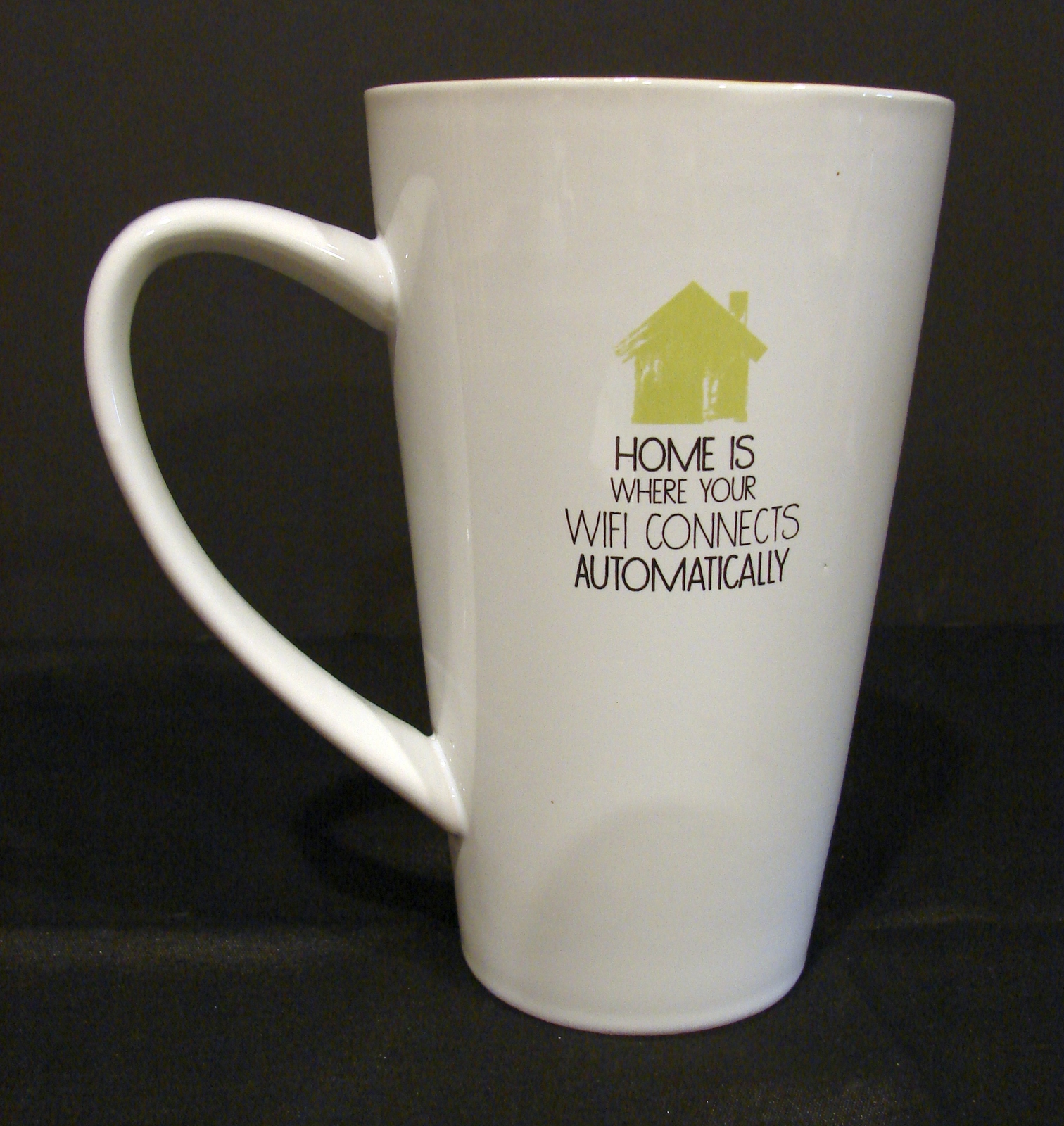 32oz Oversized  Coffee Mug: Home Is Where Your WiFi Connects Automatically  - $6.00