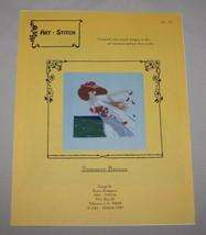 Summer Breeze Art-Stitch Cross Stitch Pattern Woman Hat Flowers Sea 1999... - $8.42