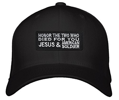 Honor The Two Who Died For You Jesus & American Soldier Hat - Unisex Adjustable