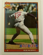 Topps 542 Rob Murphy Red Sox 1991 Topps 40 Years Of Baseball Card - $20.00