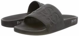 Hugo Boss Men's Graphic Rubber Slip On Beach Pool Solar Slides Sandals 50390856