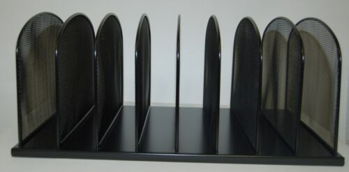 Safco 3253BL Metal Mesh Desk Organizer 8 Upright Sections Black Onyx