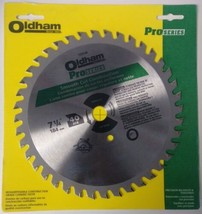 """Oldham Pro Series 7257740 7-1/4"""" x 40 ATB Smooth Cut Combination Saw Blade USA - $8.91"""