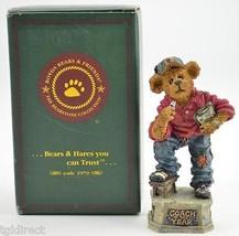 Collectible Boyds Bears Coach Grizberg Resin Figurine Handmade 2000 Teddy Bear - $14.99