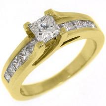 1.5 CARAT WOMENS DIAMOND ENGAGEMENT WEDDING RING PRINCESS SQUARE CUT YEL... - £2,440.27 GBP