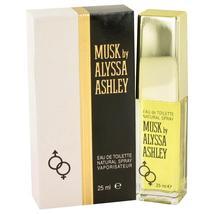 Alyssa Ashley Musk Eau De Toilette Spray .85 oz For Women 100% authentic perfect - $27.41