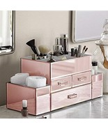 OnDisplay Amara 3 Drawer Tiered Rose Gold Mirrored Makeup/Jewelry Organizer - $59.31