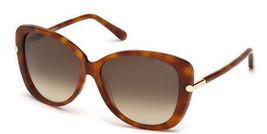 Tom Ford Linda Sunglasses - FT0324 56F - Havana Tortoise w/ Gradient Bro... - £67.21 GBP