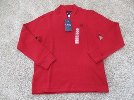BNWT Chaps 1/4 zip mock turtle neck boys pullover, 100% cotton, M(10-12)... - $28.22