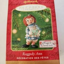 Hallmark Keepsake Raggedy Ann & Andy Set Christmas Ornaments Dated 2001 - $13.10