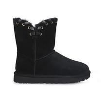 UGG AIDAH BLACK SUEDE SHEEPSKIN WIPSTITCH WOMEN`S BOOTS SIZE US 8/UK 6.5... - $2.163,30 MXN