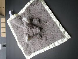 "E1 Mary Meyer Elephant Lovey Security Blanket 12"" Plush Silky gray cream - $18.80"