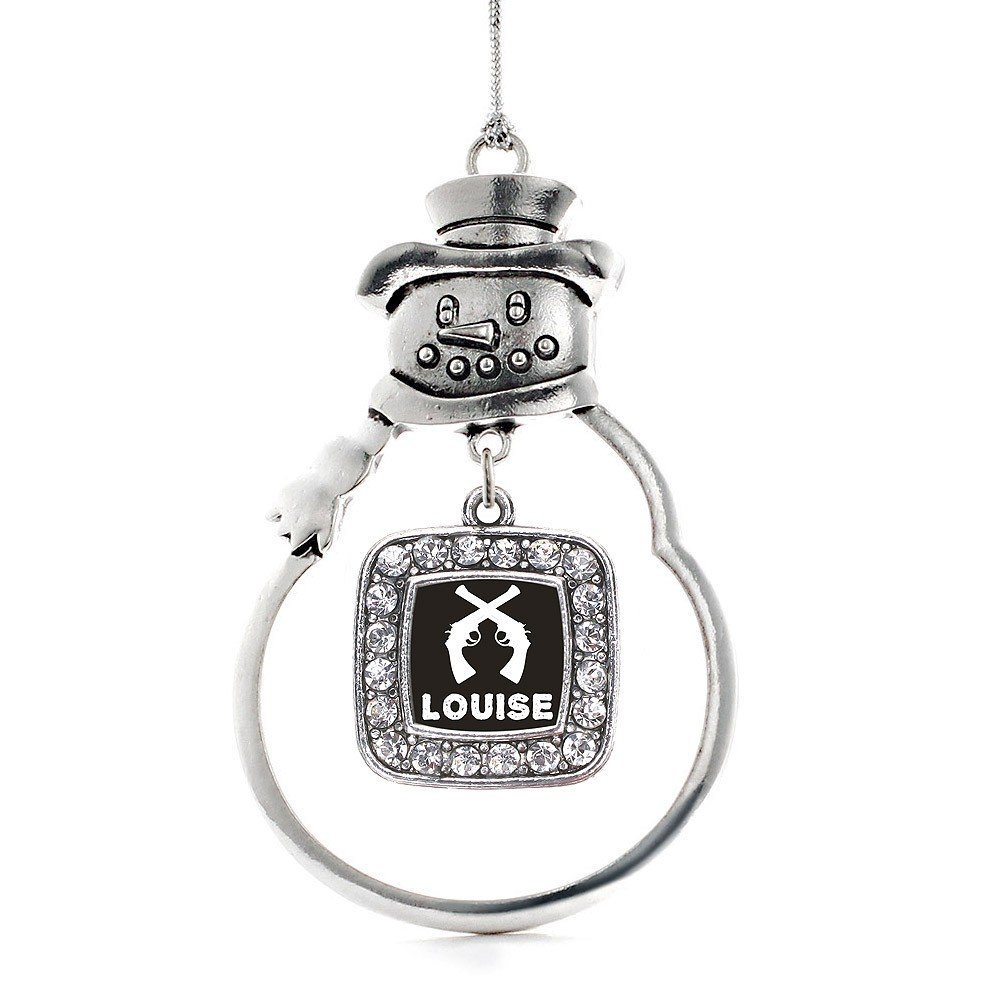 Inspired Silver Louise Classic Snowman Holiday Decoration Christmas Tree Ornamen - $14.69