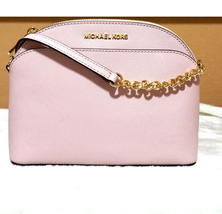 84b115d6af53 57. 57. Previous. Michael Kors Blossom pink Emmy Crossbody Messenger shoulder  bag Purse CINDY NWT