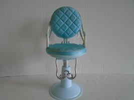 "Blue Battat Salon Adjustable 18"" Chair For American Girl Our Generation Dolls - $12.99"