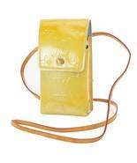 Auth LOUIS VUITTON Silver (Yellow) Vernis Cigarette Case Shoulder Pouch ... - $199.00