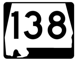 Alabama State Route 138 Sticker R4534 Highway Sign Road Sign Decal - $1.45+