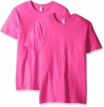 Fruit of the Loom Men's Crew T-Shirt (2 Pack), Cyber (HOT) Pink, XX-Larg... - $13.50