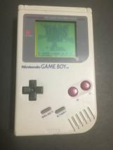 Nintendo Game Boy Original Gray DMG-01 Tetris Blast Cartridge SEE VIDEO - $87.29