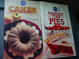 PILLSBURY CAKES UNLIMITED, HARVEST TIME PIES COOKBOOKS LOT OF 2 FREE USA... - $9.49