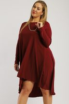 Solid, Loose Fit Dress - $37.45