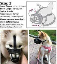 Barkless Soft Basket Silicone Dog Muzzle, Black, Size 2 image 4