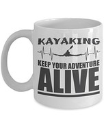 Keep Your Adventure Alive Kayaking Themed Heart Rate Coffee & Tea Gift M... - $22.53