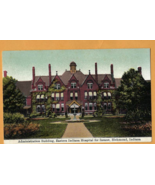 Antique Tinted Color Postcard, EASTERN INDIANA HOSPITAL FOR INSANE Never... - $12.50