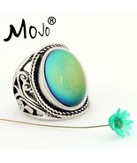 Mojo Vintage Bohemia Retro Color Change Mood Ring  Emotion Feeling Chang... - $14.17