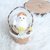Straw Basket Material With Foam Chicken Easter Home Craft Hanging Decora... - $15.83