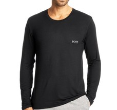 NEW MEN'S HUGO BOSS LONG SLEEVE PAJAMA LOUNGEWEAR SHIRT BLACK 50188508 SIZE S